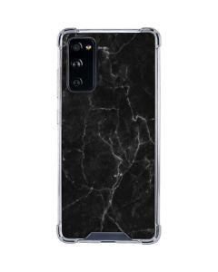 Black Marble Galaxy S20 FE Clear Case