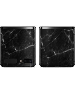 Black Marble Galaxy Z Flip Skin