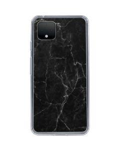 Black Marble Google Pixel 4 XL Clear Case