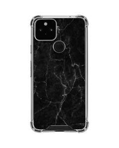 Black Marble Google Pixel 5 Clear Case