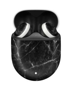 Black Marble Google Pixel Buds Skin