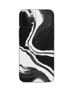 Black Marble Ink iPhone 12 Pro Skin