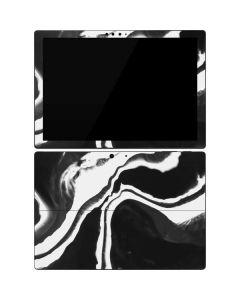 Black Marble Ink Surface Pro 7 Skin