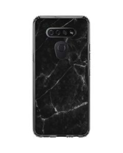 Black Marble LG K51/Q51 Clear Case