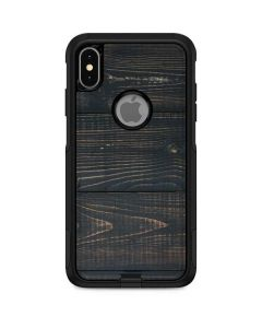 Black Painted Wood Otterbox Commuter iPhone Skin