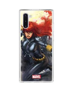 Black Widow in Action Galaxy Note 10 Clear Case