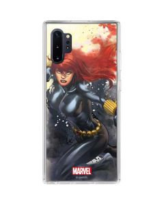 Black Widow in Action Galaxy Note 10 Plus Clear Case