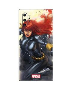Black Widow in Action Galaxy Note 10 Plus Skin