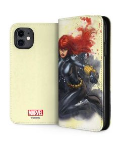 Black Widow in Action iPhone 11 Folio Case
