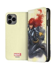 Black Widow in Action iPhone 11 Pro Folio Case
