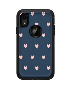 Blue and Pink Hearts Otterbox Defender iPhone Skin