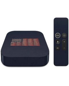 Blue Bullet American Flag Apple TV Skin