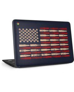 Blue Bullet American Flag HP Chromebook Skin
