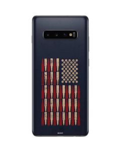 Blue Bullet American Flag Galaxy S10 Plus Skin