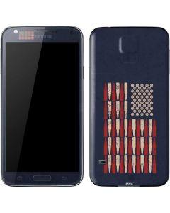 Blue Bullet American Flag Galaxy S5 Skin