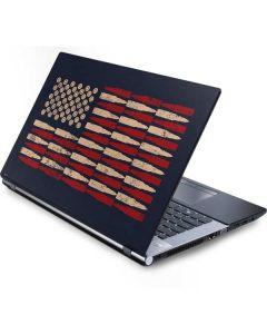 Blue Bullet American Flag Generic Laptop Skin