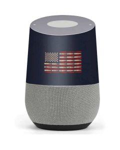 Blue Bullet American Flag Google Home Skin