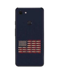 Blue Bullet American Flag Google Pixel 3 XL Skin