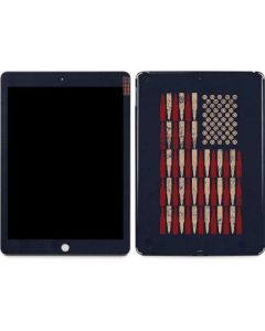 Blue Bullet American Flag Apple iPad Skin