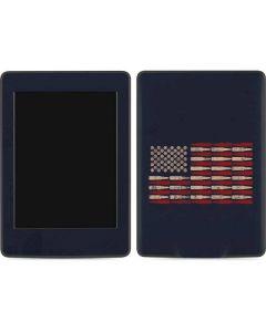 Blue Bullet American Flag Amazon Kindle Skin