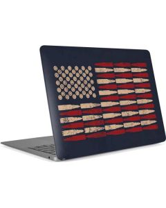 Blue Bullet American Flag Apple MacBook Air Skin