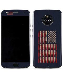 Blue Bullet American Flag Moto X4 Skin