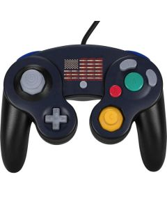 Blue Bullet American Flag Nintendo GameCube Controller Skin
