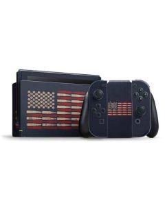 Blue Bullet American Flag Nintendo Switch Bundle Skin