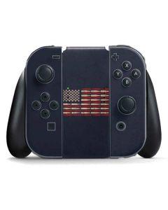 Blue Bullet American Flag Nintendo Switch Joy Con Controller Skin