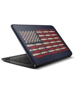 Blue Bullet American Flag HP Notebook Skin
