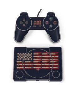 Blue Bullet American Flag PlayStation Classic Bundle Skin