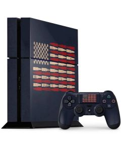 Blue Bullet American Flag PS4 Console and Controller Bundle Skin