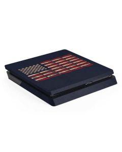 Blue Bullet American Flag PS4 Slim Skin