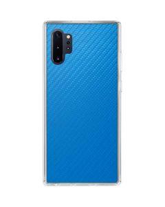 Blue Carbon Fiber Galaxy Note 10 Plus Clear Case