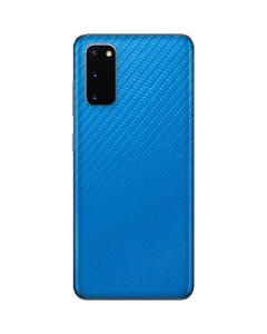 Blue Carbon Fiber Galaxy S20 Skin