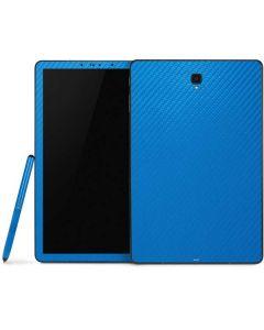 Blue Carbon Fiber Samsung Galaxy Tab Skin