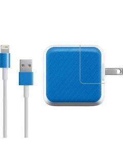 Blue Carbon Fiber iPad Charger (10W USB) Skin