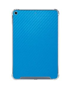 Blue Carbon Fiber iPad Mini 5 (2019) Clear Case