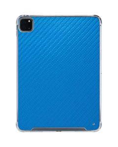 Blue Carbon Fiber iPad Pro 11in (2020) Clear Case