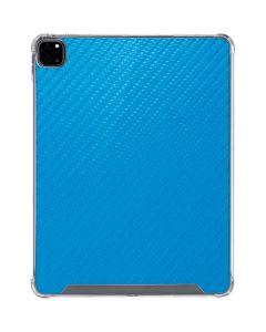 Blue Carbon Fiber iPad Pro 12.9in (2020) Clear Case