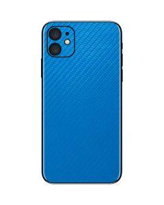 Blue Carbon Fiber iPhone 11 Skin