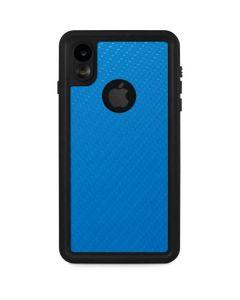 Blue Carbon Fiber iPhone XR Waterproof Case