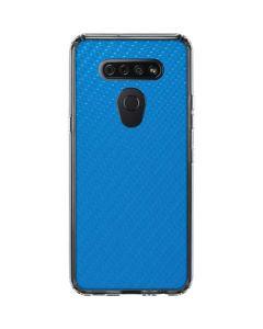 Blue Carbon Fiber LG K51/Q51 Clear Case
