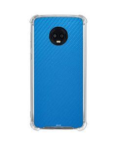 Blue Carbon Fiber Moto G6 Clear Case