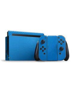Blue Carbon Fiber Nintendo Switch Bundle Skin