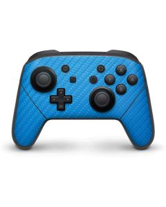 Blue Carbon Fiber Nintendo Switch Pro Controller Skin