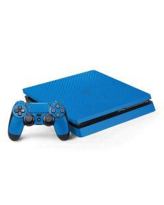 Blue Carbon Fiber PS4 Slim Bundle Skin