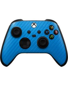 Blue Carbon Fiber Xbox Series X Controller Skin