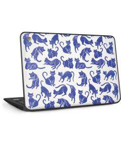 Blue Cats HP Chromebook Skin