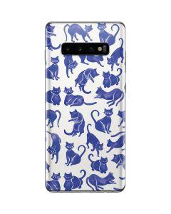 Blue Cats Galaxy S10 Plus Skin